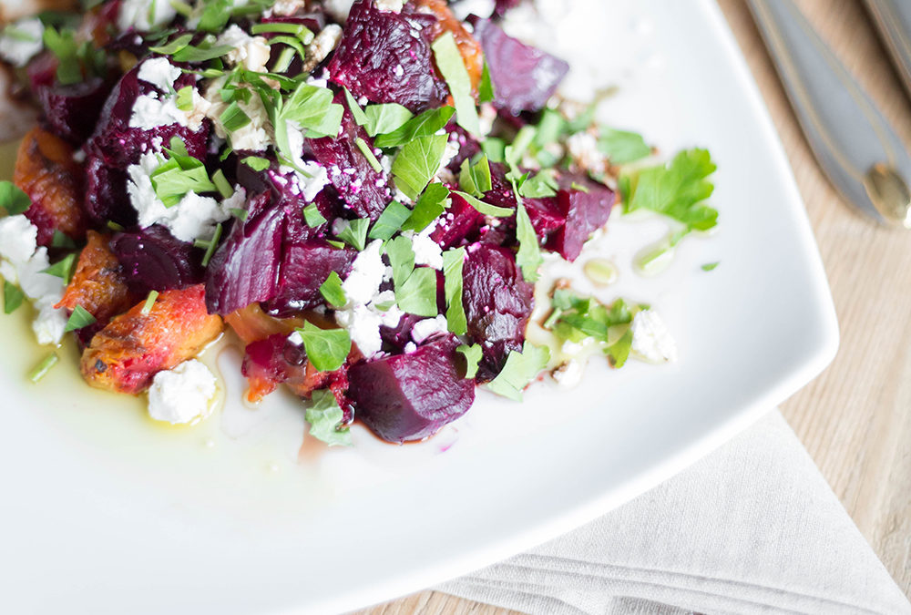 Simple Salad Recipe: Beet Salad with Goat Cheese and Parsley