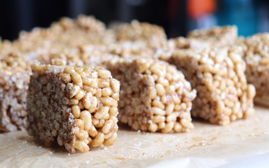 Recipe: Sunflower Butter Rice Crispy Squares